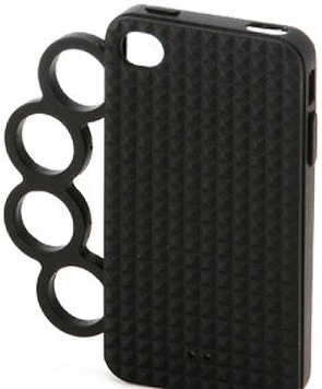 iPhone Clutch - Case para iPhone 4 com soco inglês. Não recomendado para os esquentadinhos