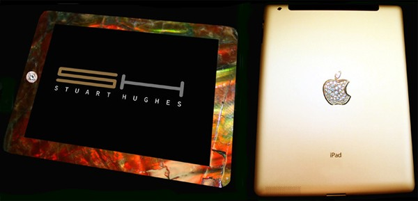 """ipad dinosaur bones - iPad 2 banhado a ouro e diamantes. Preço? """"Apenas"""" US$ 8 milhões"""