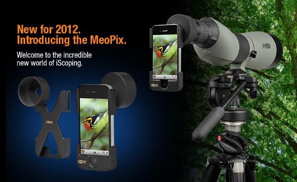 meopix iscoping adapter - Meopta transforma o iPhone 4 em um acessório para telescópios