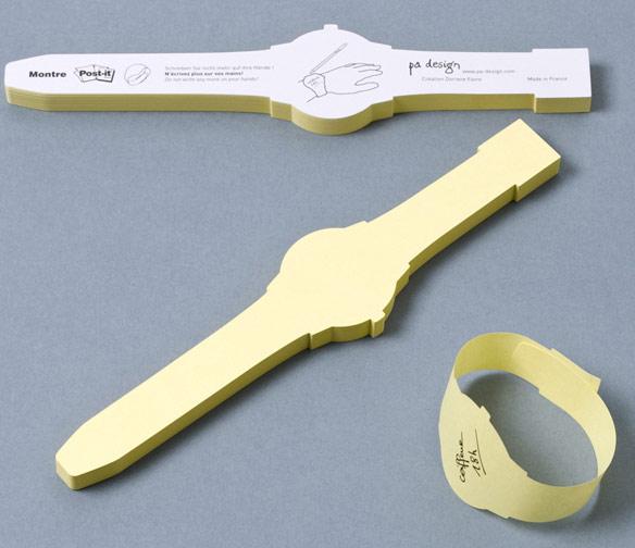 Sticky-Note-Wrist-Watch