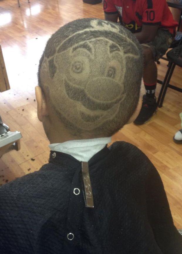 mario-shaved-in-head