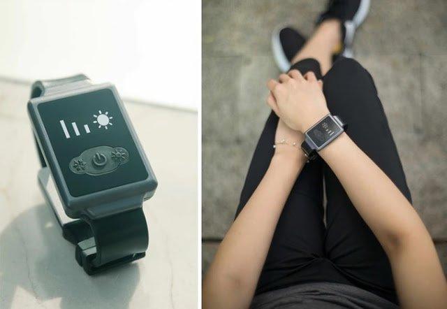"""bcf66294faf O Aircon Watch é um projeto de um relógio com """"ar condicionado de pulso""""."""